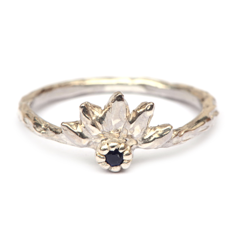 Gaia ring met saffier