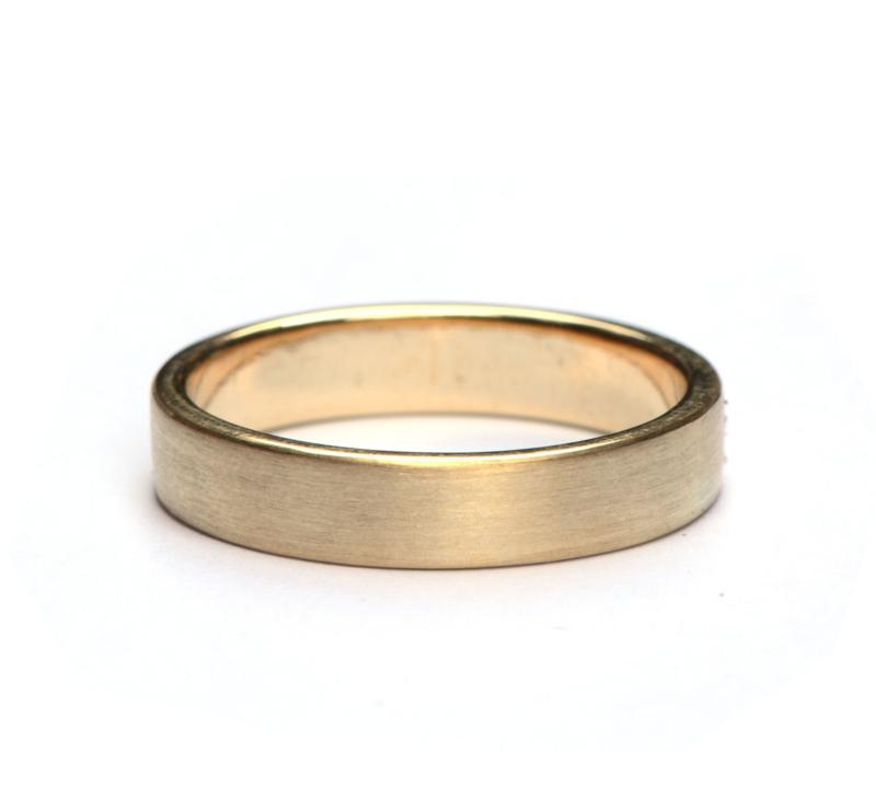 Gematteerde ring