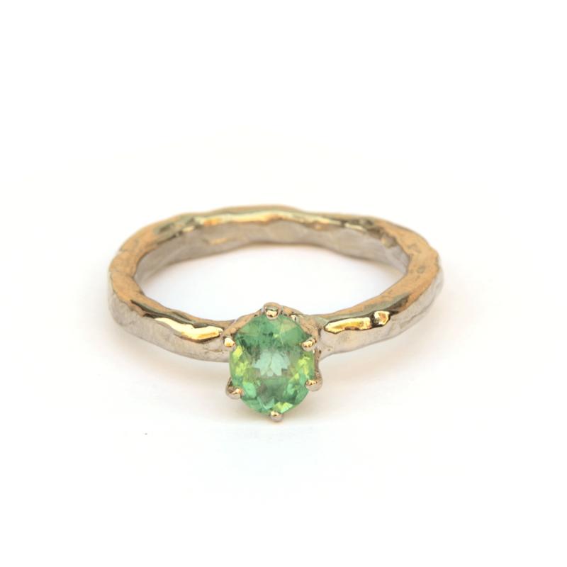 Ring met unieke paraiba toermalijn