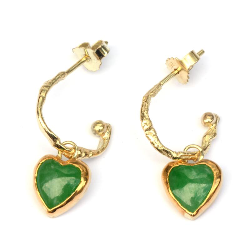 Creooltjes met hartjes van jade
