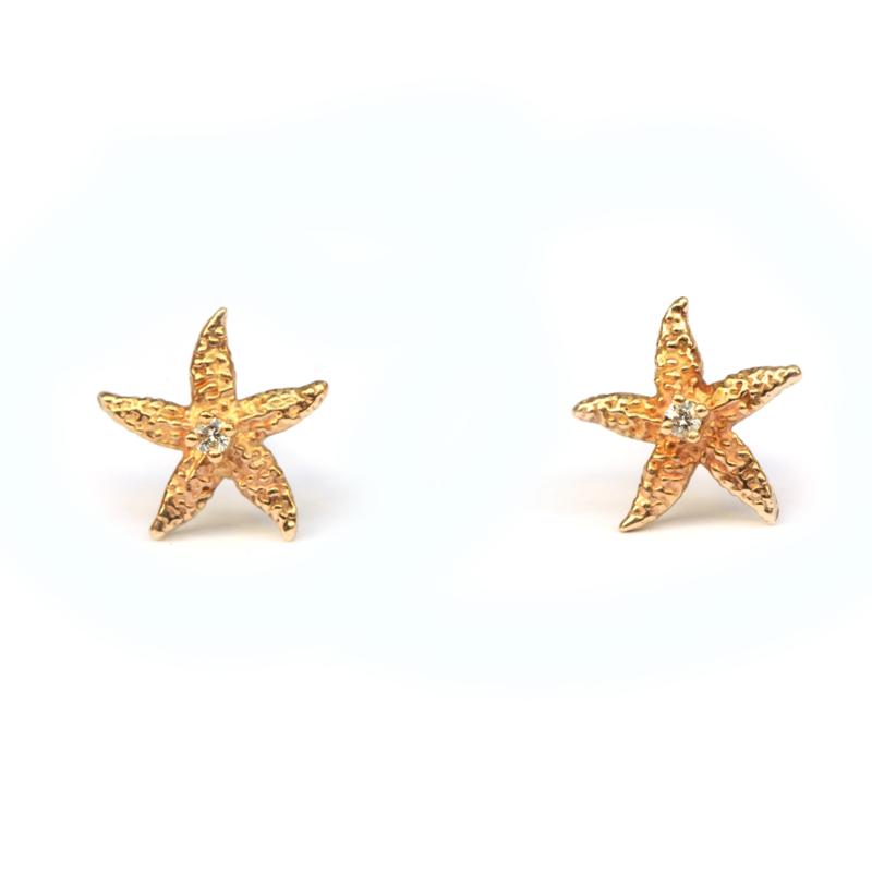 Gouden zeesterren met diamantjes