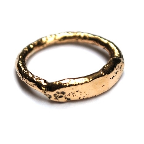 Gouden plak ring