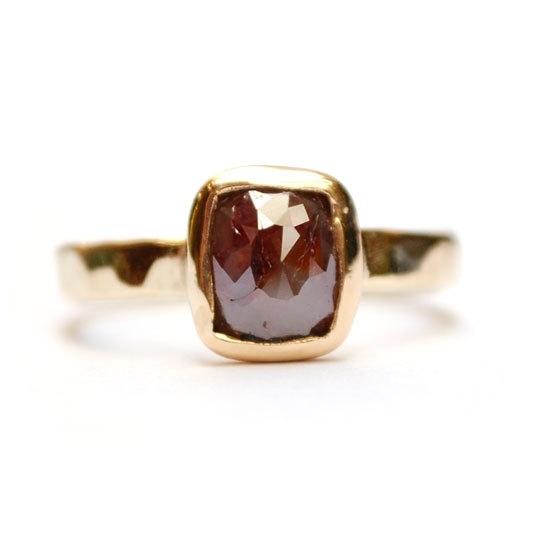 Ring met roos geslepen diamant
