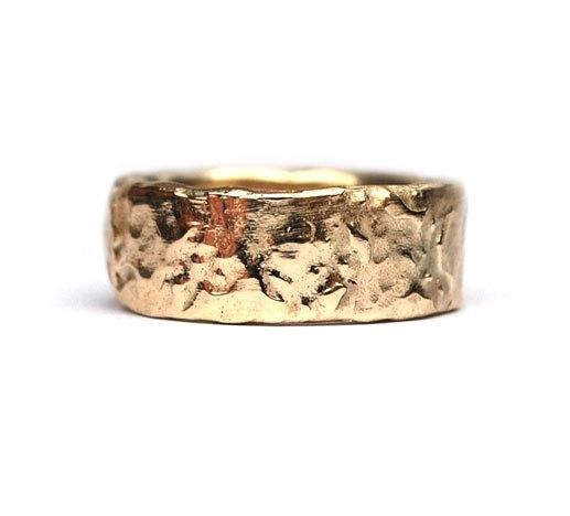Brede gouden ring