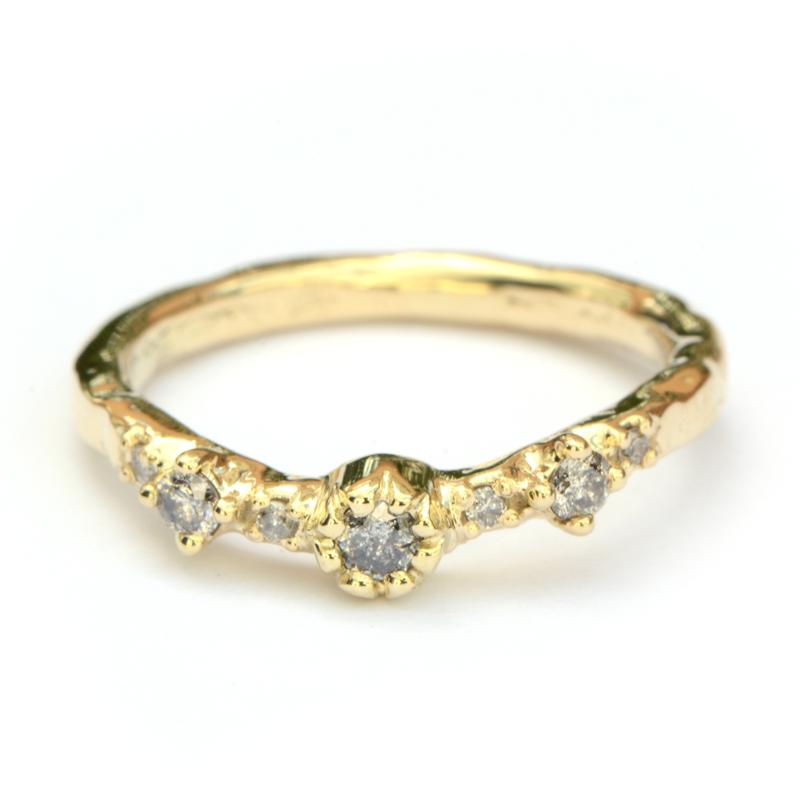 Ring Fela met salt & pepper diamanten