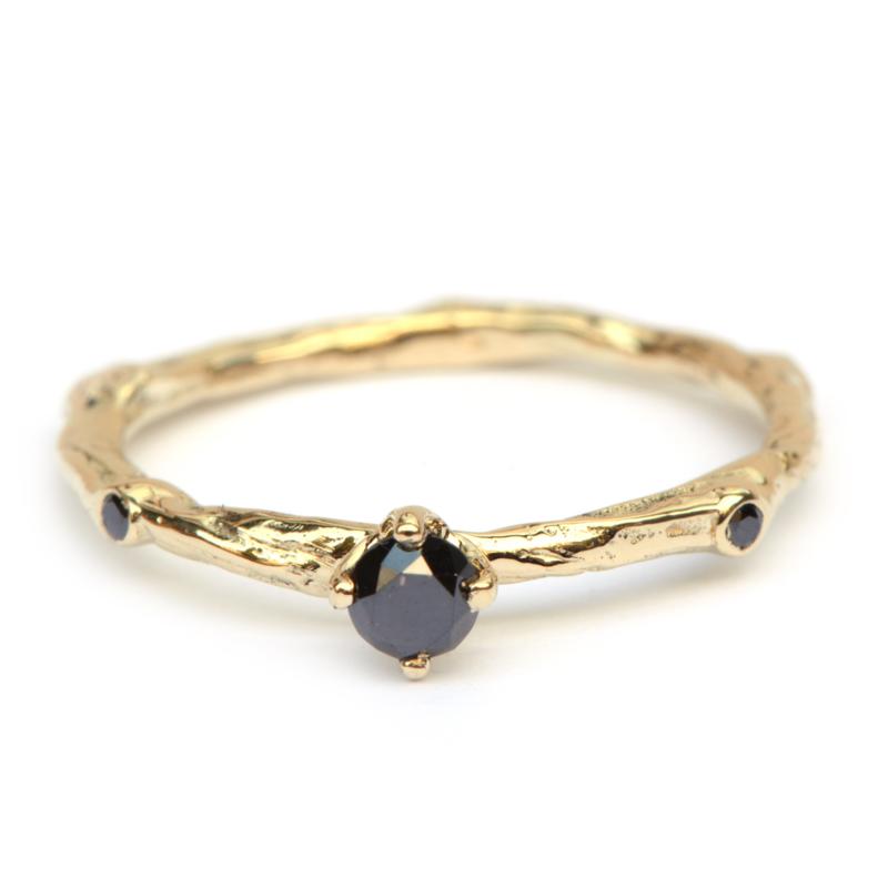 Ring Talia met zwarte diamanten