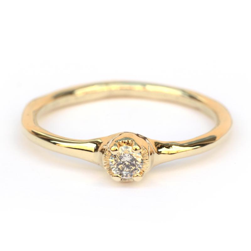 Polly ring met salt & pepper diamant
