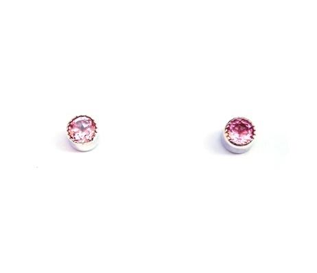 Oorstekers met roze tourmalijn