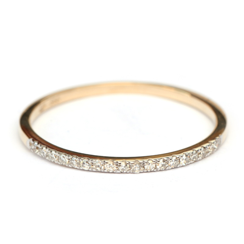 Superfijne ring met diamantjes