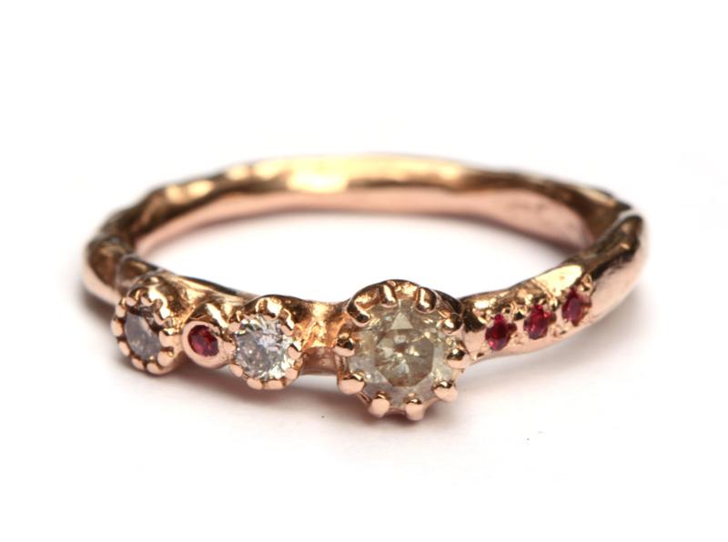 Ice diamond queen ring