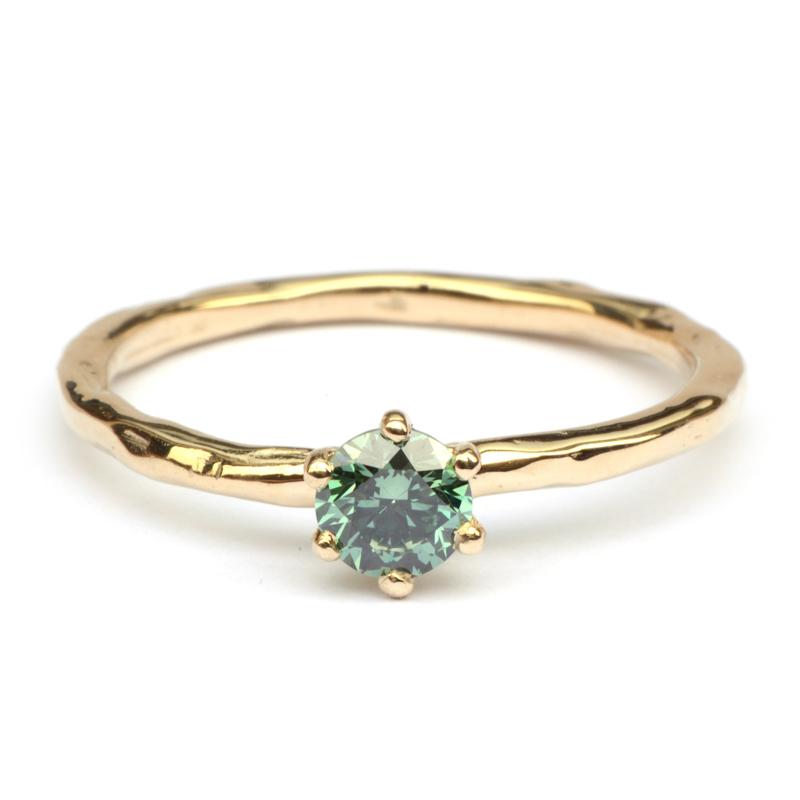 Groene Diamant Solitair
