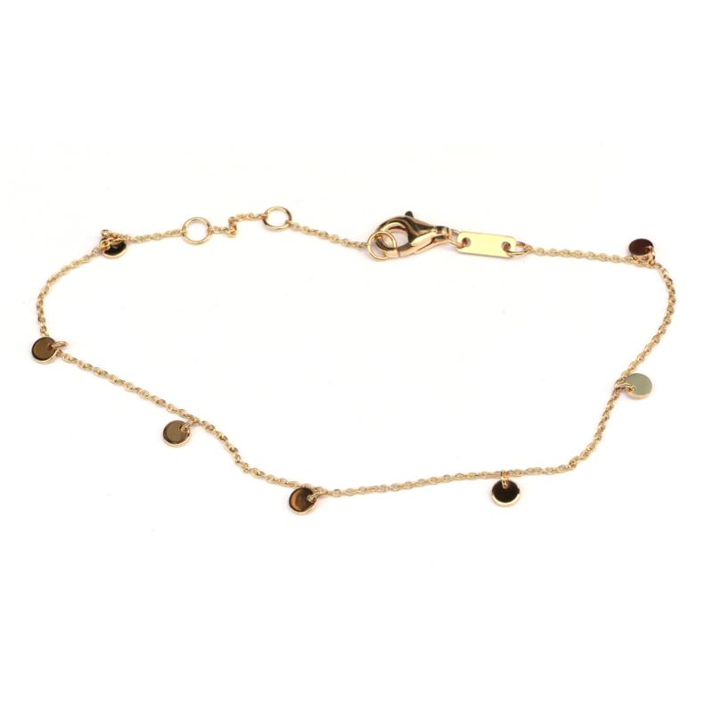 Fijne armband met gouden bedeltjes