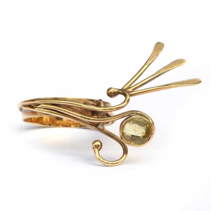 Feestelijke ring met goudberyl