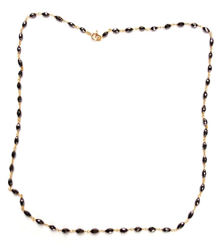 Diamantcollier zwarte olijf