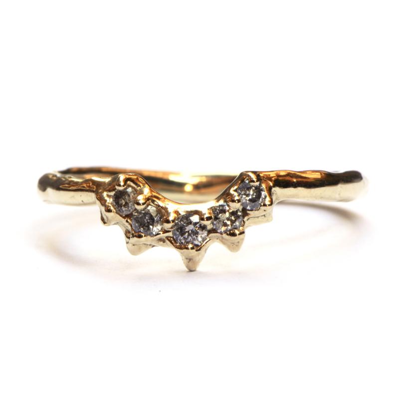 Ring Evelyn met salt & pepper diamanten