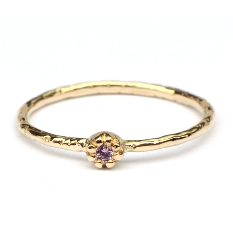Naoki ring met roze saffier