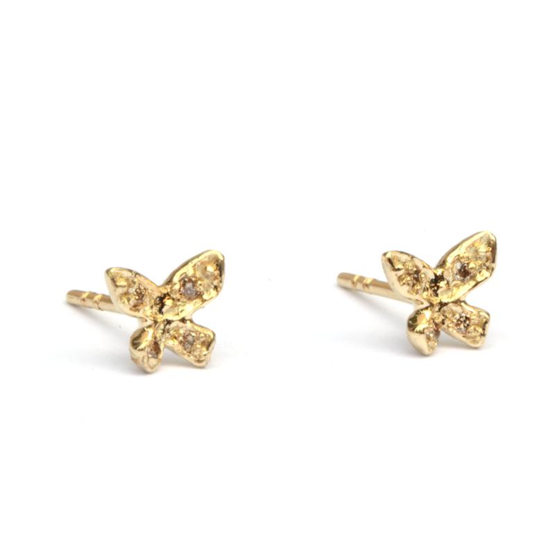 Vlinders met diamantjes klein