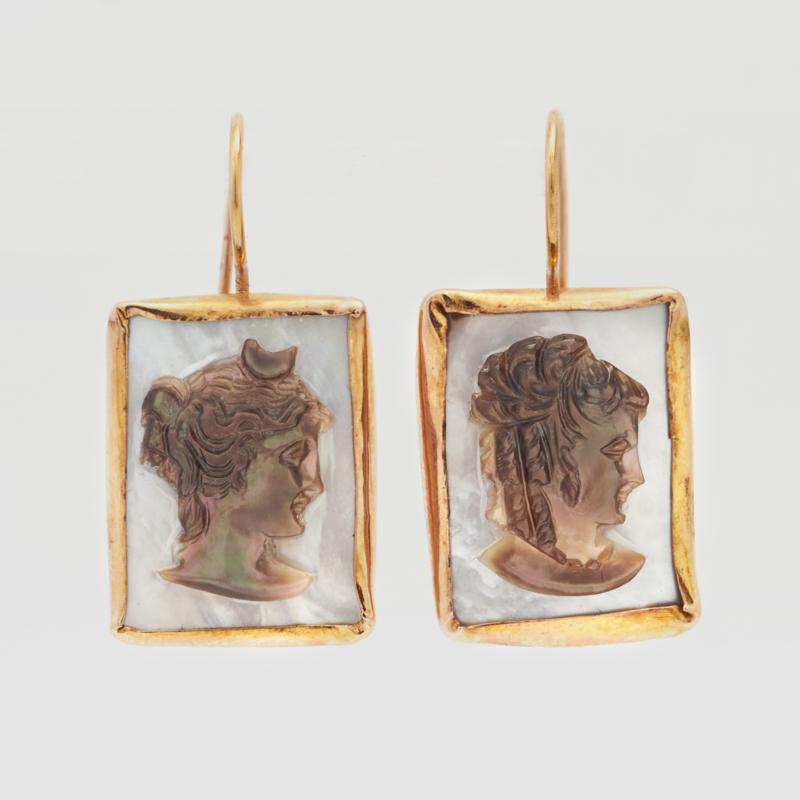 Antieke camees in roodgoud