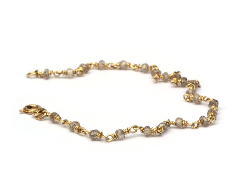 Armband 14krt goud met zirkoon