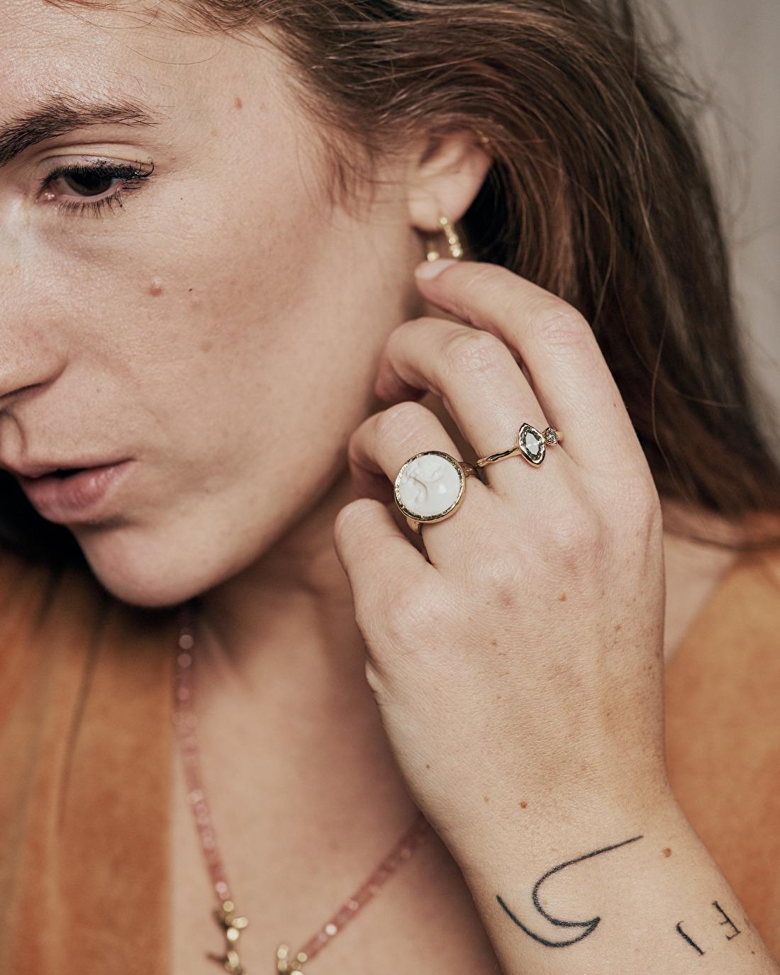Cate Adriana moon ring