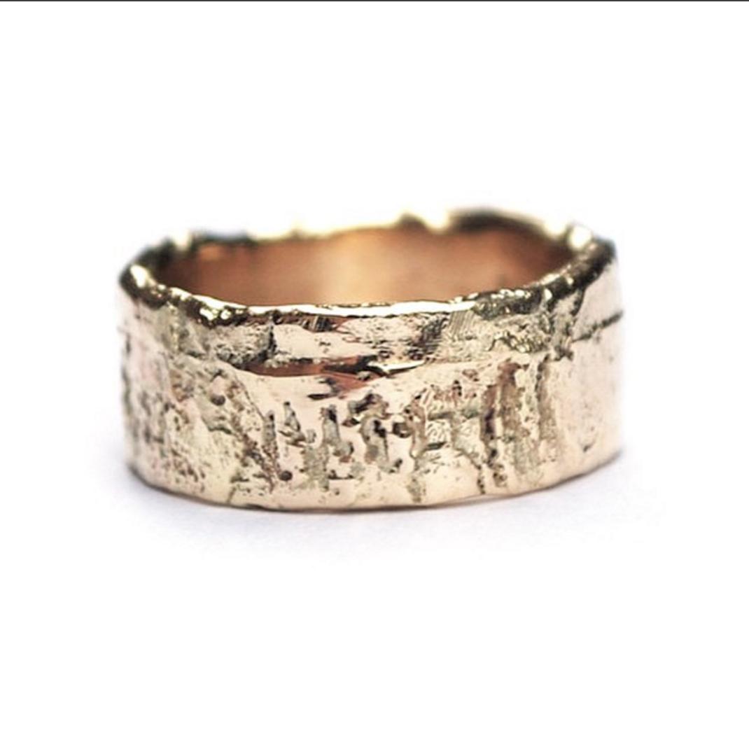 Organsiche gouden ring