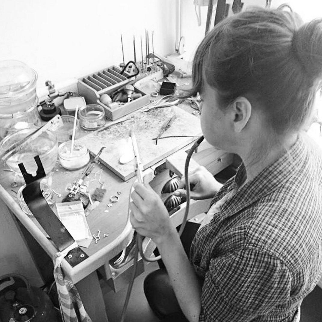 Nadine Kieft aan het werk