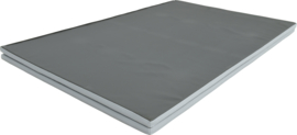 Zusammenklappbare Sportmatte / Gymnastikmatte / Spielmatte Grau (200 x 150 x 3 cm)