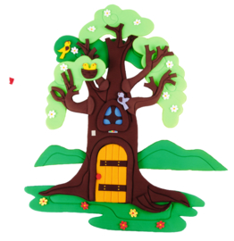 Wanddekoration Apfelbaum - im Wandel der 4 Jahreszeiten (80 x 130 cm)