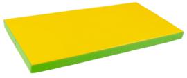 Sportmatte / Gymnastikmatte / Spielmatte / Liegepolster grün / gelb (120 x 60 x 7 cm)