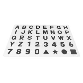 Spielmatte Alphabet/Nummern/Figuren WEIß-SCHWARZ 3,6 m² / 40-teilig (30 x 30 x 1,2 cm)