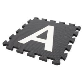 Spielmatte Alphabet/Nummern/Figuren SCHWARZ-WEIß 3,6 m² / 40-teilig (30 x 30 x 1,2 cm)
