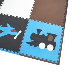 Spielmatte mit Fahrzeuge / 9 Fliesen (60 x 60 x 1,2 cm)