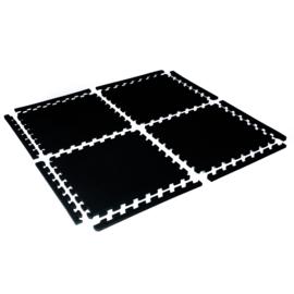 SALE! Schwimmbadfliesen / Puzzle-Bodenfliesen Schwarz (50 x 50 x 1 cm)