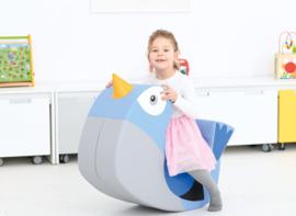 Wippe - Vogel (Blau oder weiß-beige)
