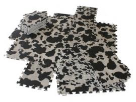 Spielmatte Kuh / 9-teilig (30 x 30 x 1,2 cm)