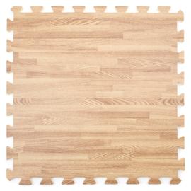 Einzelne Puzzle-Bodenfliesen. Eichenholz-Look (50 x 50 x 1,2 cm)