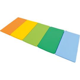 Sportmatte / Gymnastikmatte / Spielmatte faltbar / multicolor (305 x 120 x 3 cm)