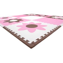 Spielmatte mit Blumen / 9 Fliesen (60 x 60 x 1,2 cm)
