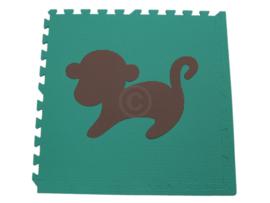 Einzelfliese Tieren (Affe/Elefant) 60 x 60 x 1,2 cm
