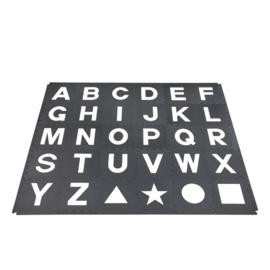 Spielmatte Alphabet/Figuren SCHWARZ-WEIß 2,86 m² / 30-teilig (30 x 30 x 1,2 cm)