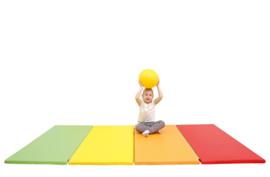 Sportmatte / Gymnastikmatte / Spielmatte faltbar / multicolor (244,5 x 120 x 3 cm)
