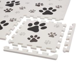 Spielmatte Hundepfoten / 9-teilig (30 x 30 x 1,2 cm)