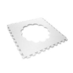 Puzzle Uhr abnehmbarer Rand (60 x 60 x 1,2 cm)