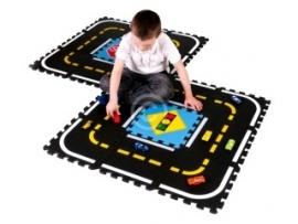 Puzzle Verkehrsspielmatte / 18-teilig (30 x 30 x 1,2 cm)