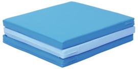 Sportmatte / Gymnastikmatte / Spielmatte blau, rot/orange oder schwarz/blau/grau (180 x 60 x 5 cm)