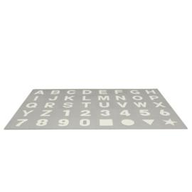 Spielmatte Alphabet/Nummern/Figuren Grau-Weiß 3,6 m² / 40-teilig (30 x 30 x 1,2 cm)