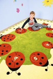 Spielteppich /Kinderteppich Marienkäfern (2 x 3 Meter)