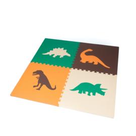 Spielmatte Dinosaurier (4 x 60 x 60 x 1,2 cm)