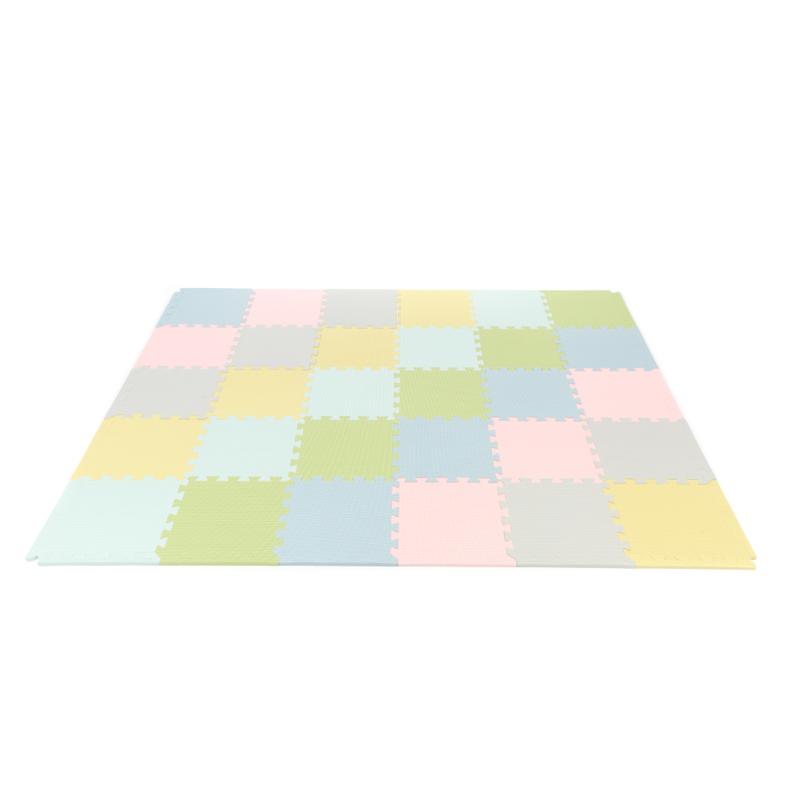 Einzelfliese 30 x 30 x 1,2 cm für Puzzlematten (PASTEL)