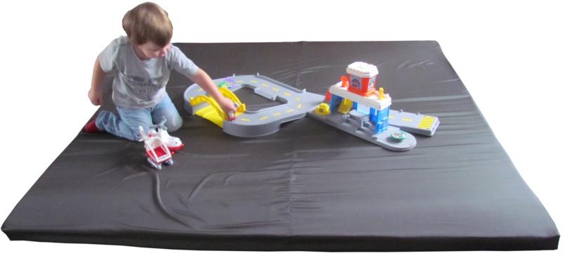 Spielmatte/Laufgittermatte für drinnen / draußen (180 x 180 cm) rot / blau / grün / anthrazit